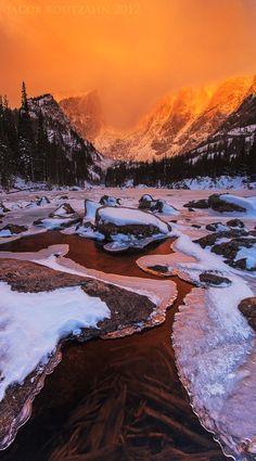 Sunrise Over Dream Lake - Rocky Mountain National Park, Colorado