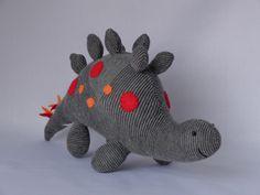 Stegosaurus Plush Toy Dinosaur Stuffed Animal by SockSockWorld
