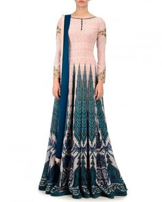 Printed Pink Anarkali Suit with Zari Embroidery - New Arrivals   SHOP NOW ON : bit.ly/JJ_Valaya1