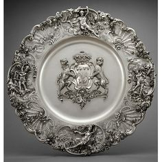 Rococo Silver Dish made by Paul de Lamerie (1688-1751), Raised, embossed, cast and chased silver. Victoria and Albert Museum, London