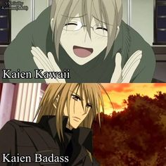 haha :) one thing that annoyed me about the anime is that it ends just when Kaien starts getting 'cool.' he's turns into such an awesome person in the manga...