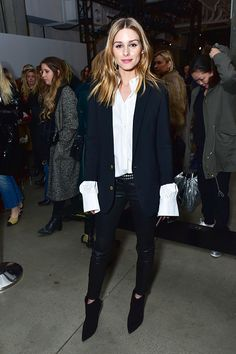 Olivia Palermo attends the Zadig Voltaire show during New York Fashion Week at Skylight Modern on February 13 2017 in New York City