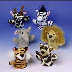 Safari Party Cloth Finger Puppet Party Favors (12 ct)
