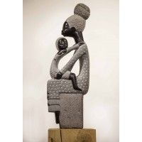 Comforting Mother by Boet Nyariri Family Sculpture, Mothersday Gift, Stone Sculpture, Mother And Child, Comforters, Mother Son, Creature Comforts, Quilts, Rock Sculpture