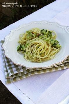 La cuisine très jolie: Spaghetti al pesto di porri e zucchine
