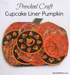 On Saturday we sat down at kitchen table to create this cupcake liner pumpkin and JDaniel announced that it was for preschoolers. It was easy enough for preschoolers to complete, but I think children outside of preschool would like to do this craft too. What supplies did we use?  Black construction paper, white crayons, cupcake …