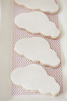Cloud cookies- very pretty and simple.
