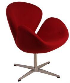 Replica Arne Jacobsen Swan Chair Red