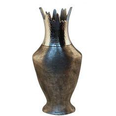 Pewter vase with Rippled Sand Design
