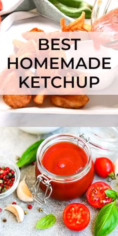 Homemade Ketchup made with fresh tomatoes, vegetables and spices. You'll never buy ketchup again, trust me. #ketchup #easyrecipe