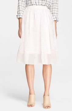 Elizabeth and James 'Avenue' Chiffon A-Line Skirt available at #Nordstrom