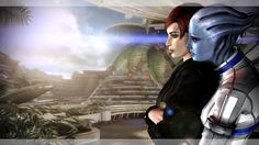 random femshep/Liara appreciation this time with background. may upload 1 or 2 more of this scene. tool: xnalara, BG edited screen [link], mods Red and Blue Commander Shepard, Red And Blue, Scene, Deviantart, Fictional Characters, Fantasy Characters, Stage