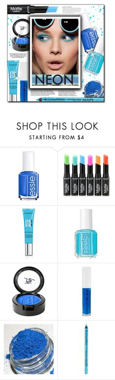 """#937 - Neon Beauty"" by lilmissmegan ❤ liked on Polyvore featuring beauty, KAROLINA, Essie, Givenchy, Beauty Is Life, NYX, BeautyTrend, Beauty, neon and neonbeauty"