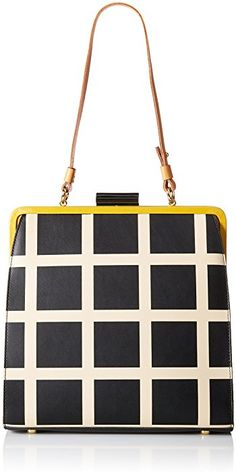 5669248086 Orla Kiely Printed Leather Large Holly Top Handle Bag