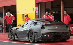 Ferrari 599 XX, love this matte charcoal color