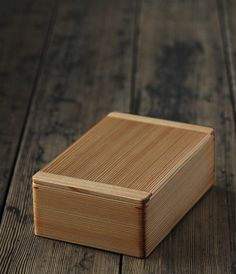 Cedar bento box.  Expensive, but the craftsmanship is sublime.