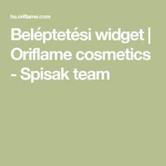 Beléptetési widget | Oriflame cosmetics - Spisak team