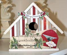 Paperlicious Designs: Altered Christmas Birdhouses | Crea bea ...
