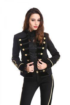 Veste style officier pour femme