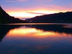 Pôr Do Sol, Abendstimmung, Lago, Água, Nuvens, Attersee