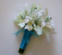 Calla Lily Casablanca Lily Bridal Bouquet Lily by shannonkristina, $269.00