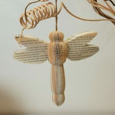 Book Art Dragonfly  Available from http://www.creatoncraftsandgifts.co.uk/shop/book-art/book-art-dragonfly/