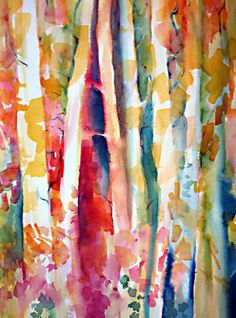 Birch Trees by Alesha F. Davies, Victoria, Vancouver Island, BC - an amazing artist & teacher