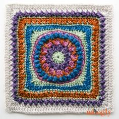 Block #7 in the 2016 Moogly CAL:: Come join in the fun! All the blocks in this Crochet Along are free, and at the end of the year we'll join them into beautiful throws, to gift or keep! Click for more info!