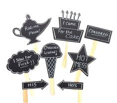 Lmao at chocolate wasted and rub me! 8 Chalkboard Photo Booth Props Speech Bubble Props Chalk board Photobooth Props Set of 8 Wedding Photo Props Decoration Marquee Wedding, Wedding Signs, Our Wedding, Diy Photo Booth Props, Wedding Photo Props, Anniversary Greetings, Chalkboard Wedding, Party Props, Party Ideas