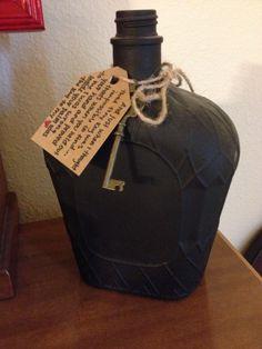 Painted liquor bottle