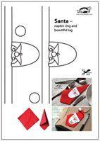 Santa – napkin ring and beautiful tag   krokotak