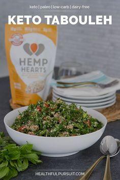 Keto Tabouleh recipe… made with hemp hearts! #keto #lowcarb #highfat #theketodiet