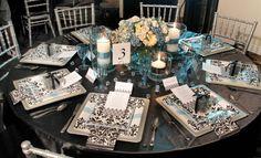black-white-damask-turquoise-bridal-shower-brunch-decor-tablescape