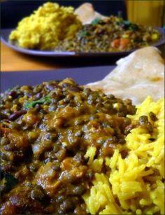 Dal Makhani (lentilles et haricots rouges à l'indienne) No Salt Recipes, Meat Recipes, Indian Food Recipes, Asian Recipes, Vegetarian Recipes, Healthy Recipes, Ayurveda, Batch Cooking, Pasta