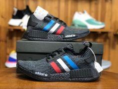 06750590ff342 Mens Womens Shoes Adidas Originals NMD R1 PK Black Blue White BB2889 bb2889