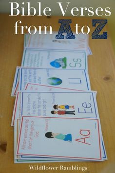 ABC Bible Verses for kids -- free alphabet bible printables!!  Wildflower Ramblings