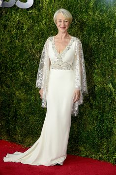 The Best Looks from the Tony Awards 2015  - Dame Helen Mirrren - HarpersBAZAAR.com