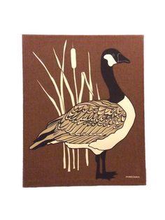 Vintage Marüshka Canadian Goose Silk-Screen by JacobandCharlies
