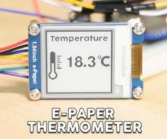 ESP32 E-Paper Thermometer