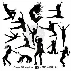 A personal favourite from my Etsy shop https://www.etsy.com/sg-en/listing/457336672/dance-silhouettes-clipartdancer