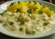Květák v sýrové omáčce recept - TopRecepty.cz Cheeseburger Chowder, Risotto, Soup, Ethnic Recipes, Soups