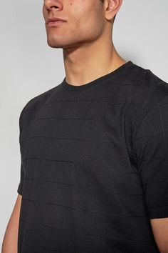 ANTIOCH - BLACK EMBROIDERED T-SHIRT #antioch #fashion #tshirt #embroidered East London, Trousers, Menswear, Fabric, Model, Cotton, Mens Tops, T Shirt, How To Wear