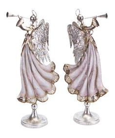 Take a look at this Trumpeting Angel Figurine Set by Melrose on #zulily today!