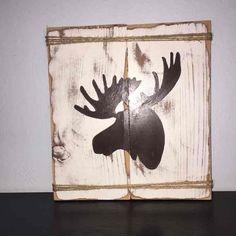 Rustic Moose Silhouette Wood Sign - Mercari: Anyone can buy & sell