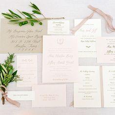 "Brides.com: . ""Carneros Inn"" organic Napa Valley-inspired wedding invitation suite, $2,900 for 100 invitation suites,Lavender & Mint"