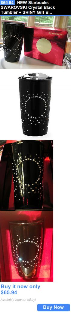 collectibles: New Starbucks Swarovski Crystal Black Tumbler + Shiny Gift Box! + Free Shipping! BUY IT NOW ONLY: $65.94