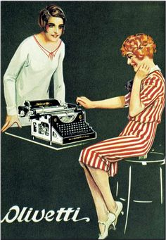 Of course, not a photo, but had to include it: Marcello Dudovich: Olivetti typewriters (1928)