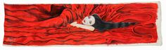 Entre sedas | Between silks | Acrílico sobre lienzo | Acrylic on canvas by Pili Tejedo 145 x 35 cm