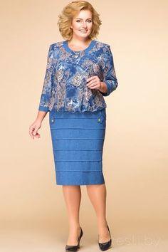 Платье Romanovich style 1-1084 синие тона African Attire, African Wear, African Fashion Dresses, Fashion Outfits, Womens Fashion, Mob Dresses, Plus Size Dresses, Plus Size Outfits, Casual Dresses