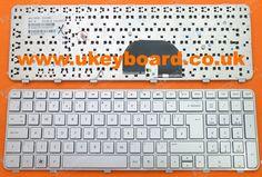 HP Pavilion DV6-6000 Series Laptop Keyboard UK Keyboard Silver